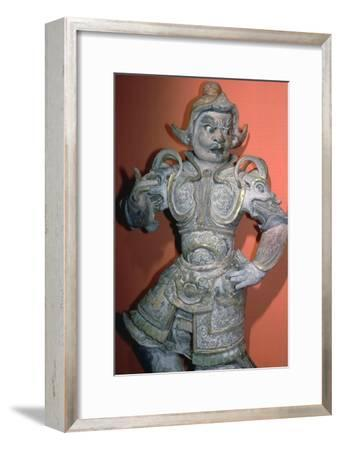 A tomb guardian or lokopala, protector of the dead, Tang dynasty, China, 618-906. Artist: Unknown-Unknown-Framed Giclee Print