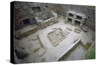 Interior of Neolithic Hut. Artist: Unknown-Unknown-Stretched Canvas Print