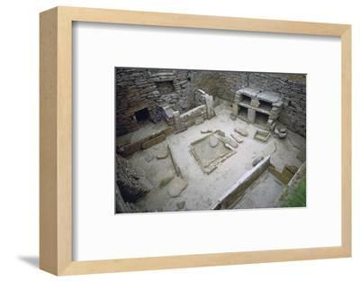 Interior of Neolithic Hut. Artist: Unknown-Unknown-Framed Photographic Print
