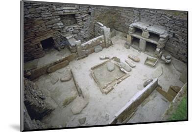 Interior of Neolithic Hut. Artist: Unknown-Unknown-Mounted Photographic Print