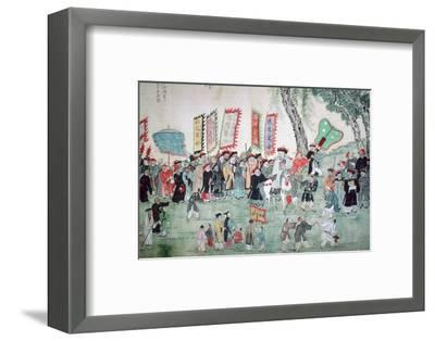 Chinese painting from a series about Chao Hsia. Artist: Unknown-Unknown-Framed Photographic Print