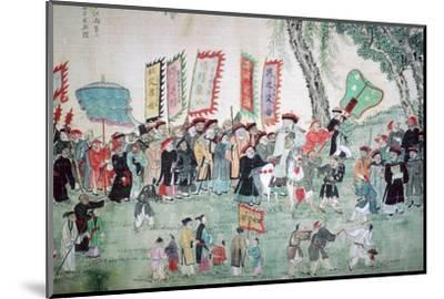 Chinese painting from a series about Chao Hsia. Artist: Unknown-Unknown-Mounted Photographic Print