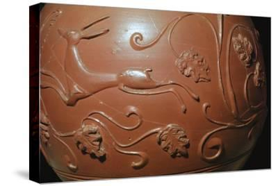 Detail of a Samian ware pot found in England. Artist: Unknown-Unknown-Stretched Canvas Print
