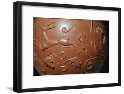 Detail of a Samian ware pot found in England. Artist: Unknown-Unknown-Framed Giclee Print
