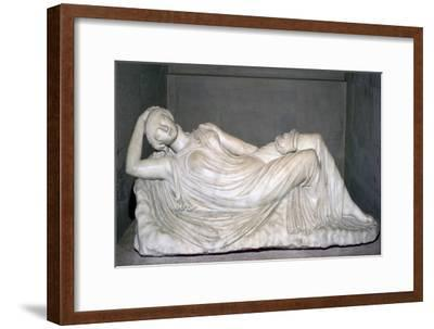 Statue of a sleeping girl. Artist: Unknown-Unknown-Framed Giclee Print