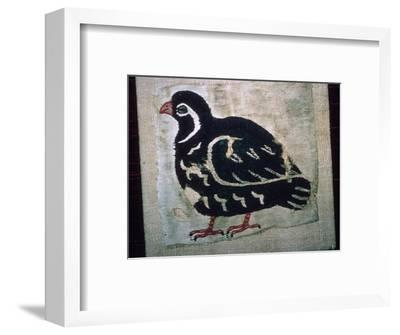 Coptic Egyptian textile showing a quail, 3rd or 4th century AD. Artist: Unknown-Unknown-Framed Giclee Print