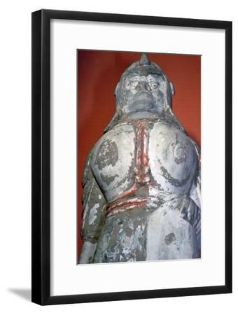 Terracotta painted soldier from the six dynasties period, China. Artist: Unknown-Unknown-Framed Giclee Print
