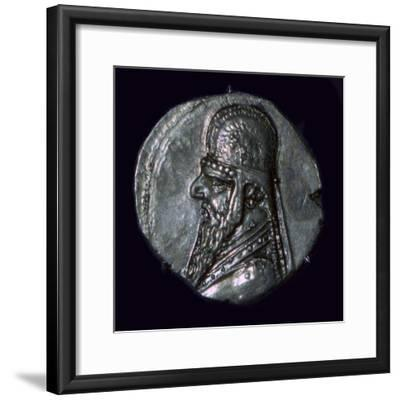 Drachma of King Mithridates II of Parthia, c1st century BC. Artist: Unknown-Unknown-Framed Giclee Print
