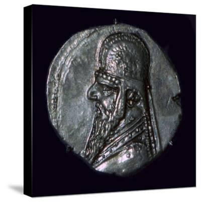Drachma of King Mithridates II of Parthia, c1st century BC. Artist: Unknown-Unknown-Stretched Canvas Print