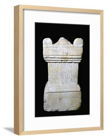 Roman Altar from York dedicated to mother goddesses. Artist: Unknown-Unknown-Framed Giclee Print