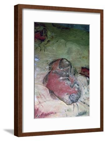 A paleolithic cave painting of an Auroch.-Unknown-Framed Giclee Print