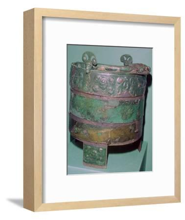 A Celtic bronze bucket.-Unknown-Framed Giclee Print