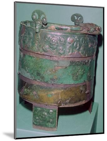 A Celtic bronze bucket.-Unknown-Mounted Giclee Print