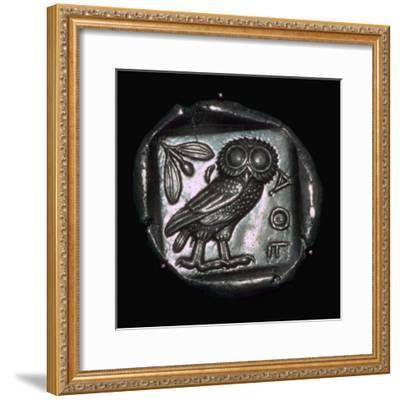 Athenian Tetradrachm, 6th century BC. Artist: Unknown-Unknown-Framed Giclee Print