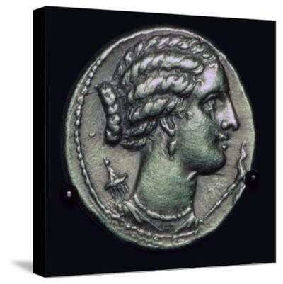 Gold half-stater of Pyrrhus of Epirus, 3rd century BC.-Unknown-Stretched Canvas Print