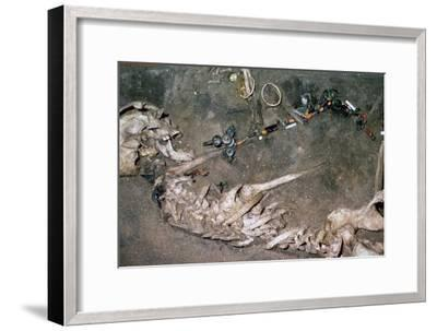 An Iron Age woman's grave from Denmark, 3rd century BC Artist: Unknown-Unknown-Framed Giclee Print
