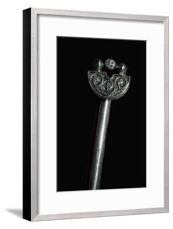 Pictish Silver Handpin from the Norrie's Law Hoard.-Unknown-Framed Giclee Print