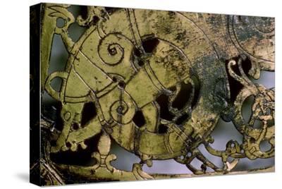 Viking bronze Weather-Vane, 10th-11th century. Artist: Unknown-Unknown-Stretched Canvas Print