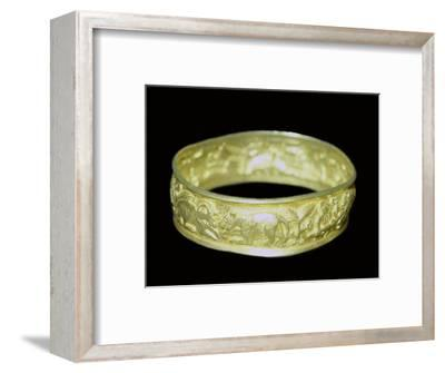 Bracelet from the Hoxne hoard, Roman Britain, buried in the 5th century. Artist: Unknown-Unknown-Framed Giclee Print