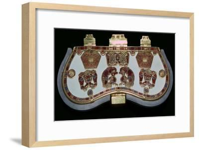Purse lid from the ship-burial at Sutton Hoo, Suffolk, early 7th century. Artist: Unknown-Unknown-Framed Giclee Print