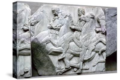 Part of the Elgin Marbles from the Parthenon, 5th century BC. Artist: Unknown-Unknown-Stretched Canvas Print