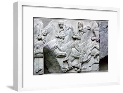 Part of the Elgin Marbles from the Parthenon, 5th century BC. Artist: Unknown-Unknown-Framed Giclee Print