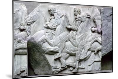 Part of the Elgin Marbles from the Parthenon, 5th century BC. Artist: Unknown-Unknown-Mounted Giclee Print