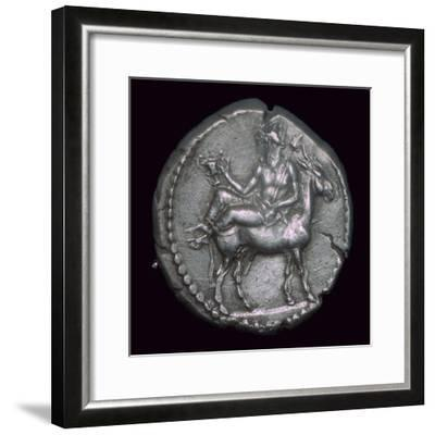Macedonian coin of the fifth century BC. Artist: Unknown-Unknown-Framed Giclee Print