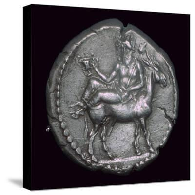 Macedonian coin of the fifth century BC. Artist: Unknown-Unknown-Stretched Canvas Print