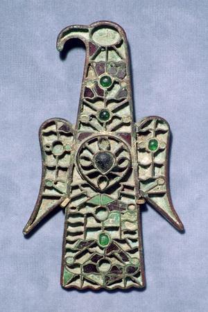 Visigothic Aquliiform Fibula. Artist: Unknown-Unknown-Framed Giclee Print