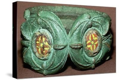 Celtic bronze armlet from Scotland. Artist: Unknown-Unknown-Stretched Canvas Print