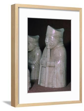 A Bishop - The Lewis Chessmen, (Norwegian?), c1150-c1200. Artist: Unknown-Unknown-Framed Giclee Print