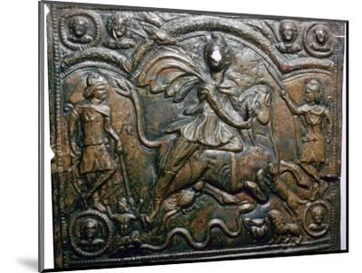 Bronze Roman relief of Mithras killing a bull. Artist: Unknown-Unknown-Mounted Giclee Print