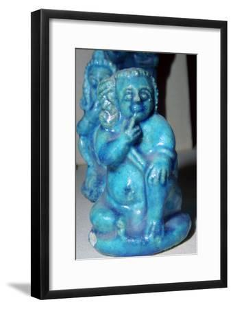 Egyptian statuette of Harpocrates as the infant Horus. Artist: Unknown-Unknown-Framed Giclee Print