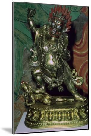 Tibetan gilt-bronze statuette of Vajrapani. Artist: Unknown-Unknown-Mounted Giclee Print