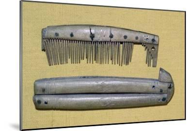 Viking period bone and ivory comb and case. Artist: Unknown-Unknown-Mounted Giclee Print