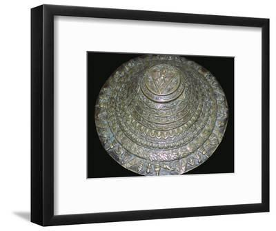 Circular plaque from Nepal with dancing figure, probably Chamunda. Artist: Unknown-Unknown-Framed Photographic Print