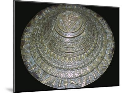 Circular plaque from Nepal with dancing figure, probably Chamunda. Artist: Unknown-Unknown-Mounted Photographic Print
