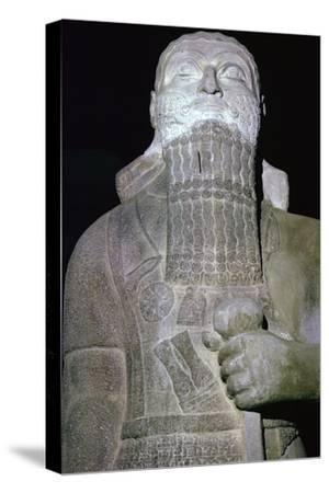 Statue of the Babylonian King Shalmaneser III. Artist: Unknown-Unknown-Stretched Canvas Print