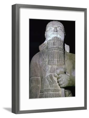 Statue of the Babylonian King Shalmaneser III. Artist: Unknown-Unknown-Framed Giclee Print