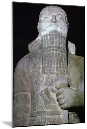 Statue of the Babylonian King Shalmaneser III. Artist: Unknown-Unknown-Mounted Giclee Print