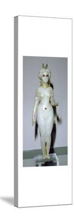Female statuette, probably the Great Goddess of Babylon. Artist: Unknown-Unknown-Stretched Canvas Print