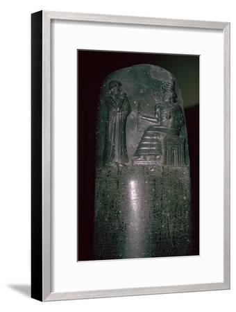 The Code of Hammurabi, 1792-1750 BC, 282 laws. Artist: Unknown-Unknown-Framed Giclee Print