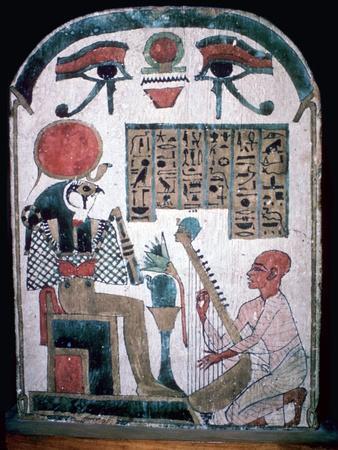 Egyptian funerary slab of Diedkhonsu Soefankh. Artist: Unknown-Unknown-Framed Giclee Print