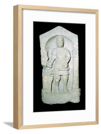 Roman tombstone of a Smith, pictured with his tools. Artist: Unknown-Unknown-Framed Giclee Print