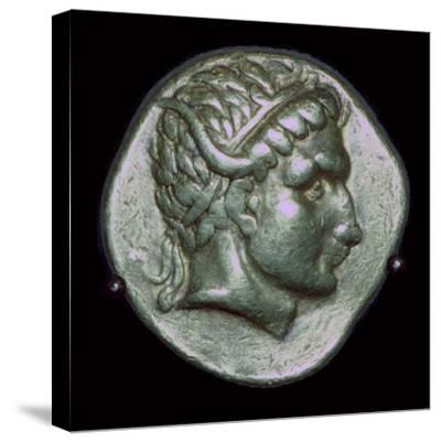Gold stater of Antiochus I, 3rd century BC. Artist: Unknown-Unknown-Stretched Canvas Print