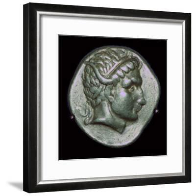 Gold stater of Antiochus I, 3rd century BC. Artist: Unknown-Unknown-Framed Photographic Print