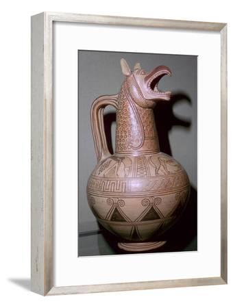 Jug with a griffin-head spout, Greek, c675-c650 BC. Artist: Unknown-Unknown-Framed Giclee Print