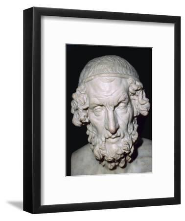 Marble portrait bust of Homer, Roman, from Baiae, Campania, Italy, 1st-2nd century. Artist: Unknown-Unknown-Framed Giclee Print