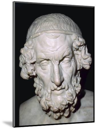Marble portrait bust of Homer, Roman, from Baiae, Campania, Italy, 1st-2nd century. Artist: Unknown-Unknown-Mounted Giclee Print